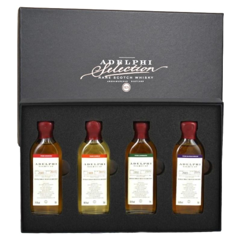 Adelphi The 'Nightcap' Selection Gift Box Batch 6, Scotland 4x10cl