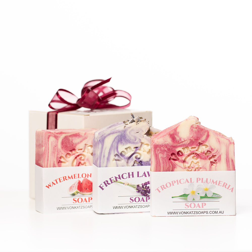 Floral Pack 1 (3 Pack of Soaps) Vegan friendly