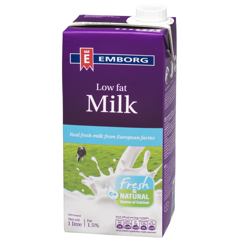 EMBORG LOW FAT MILK 1L