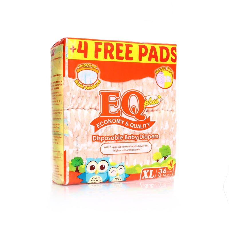 EQ PLUS DISPOSABLE JUMBO PACK XL 36'S