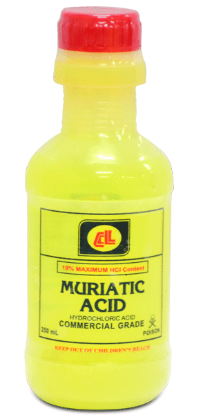 CL MURIATIC ACID COMMERCIAL GRD 250ML