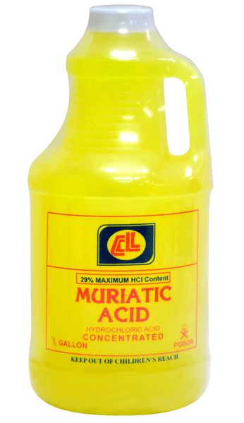 CL MURIATIC ACID CONC 1/2 GAL