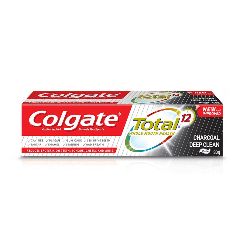 COLGATE TP TOTAL 12 CHARCOAL DC 80G