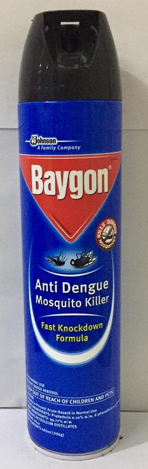 BAYGON ANTI-DENGUE MOSQUITO KILLER 600ML