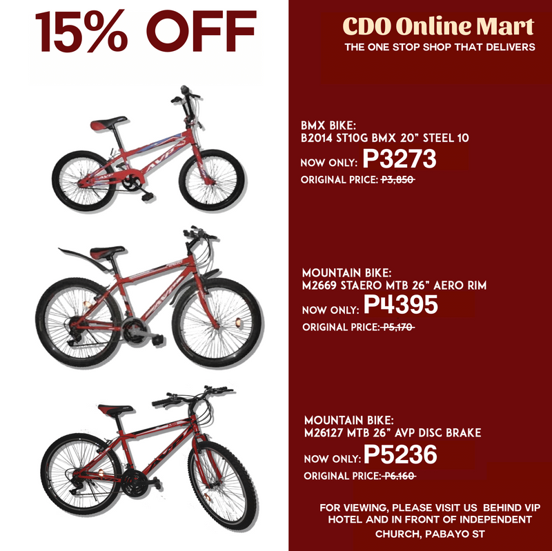 15% OFF on ALL Bikes