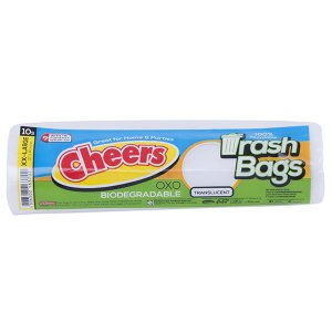 CHEERS TRASH BAG TRANSLUCENT XX-LARGE 10'S