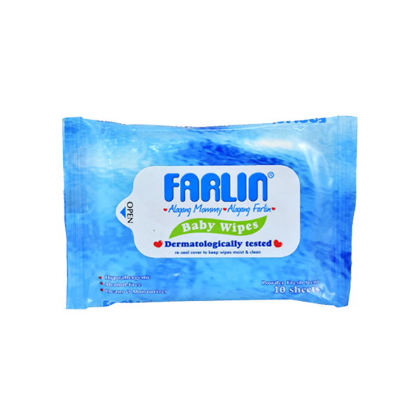 FARLIN BABY WIPES 10'S