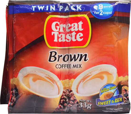 GREAT TASTE BROWN TWIN PACK 33G 10'S