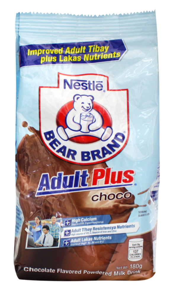BEAR BRAND ADULT PLUS CHOCO 180G