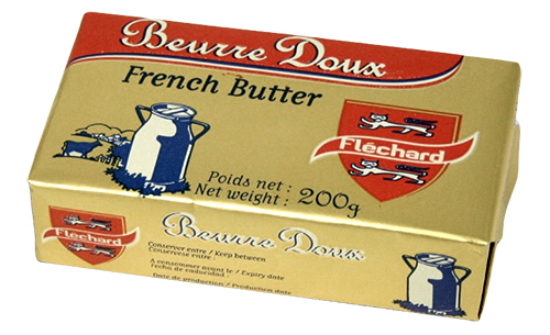 FLECHARD FRENCH BUTTER UNSALTED 82% 40X200G