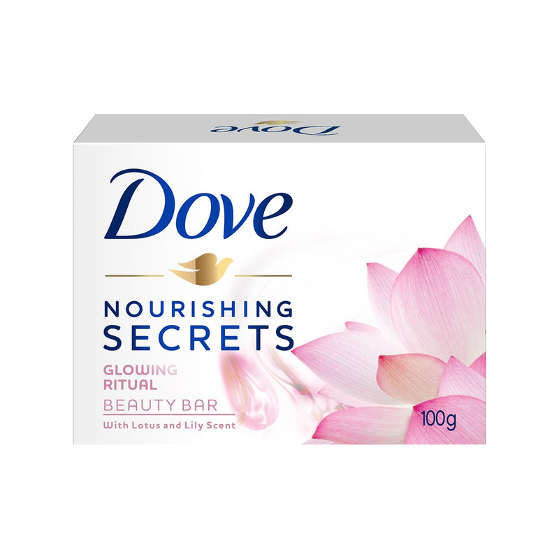 DOVE BAR GLOWING LOTUS 100G