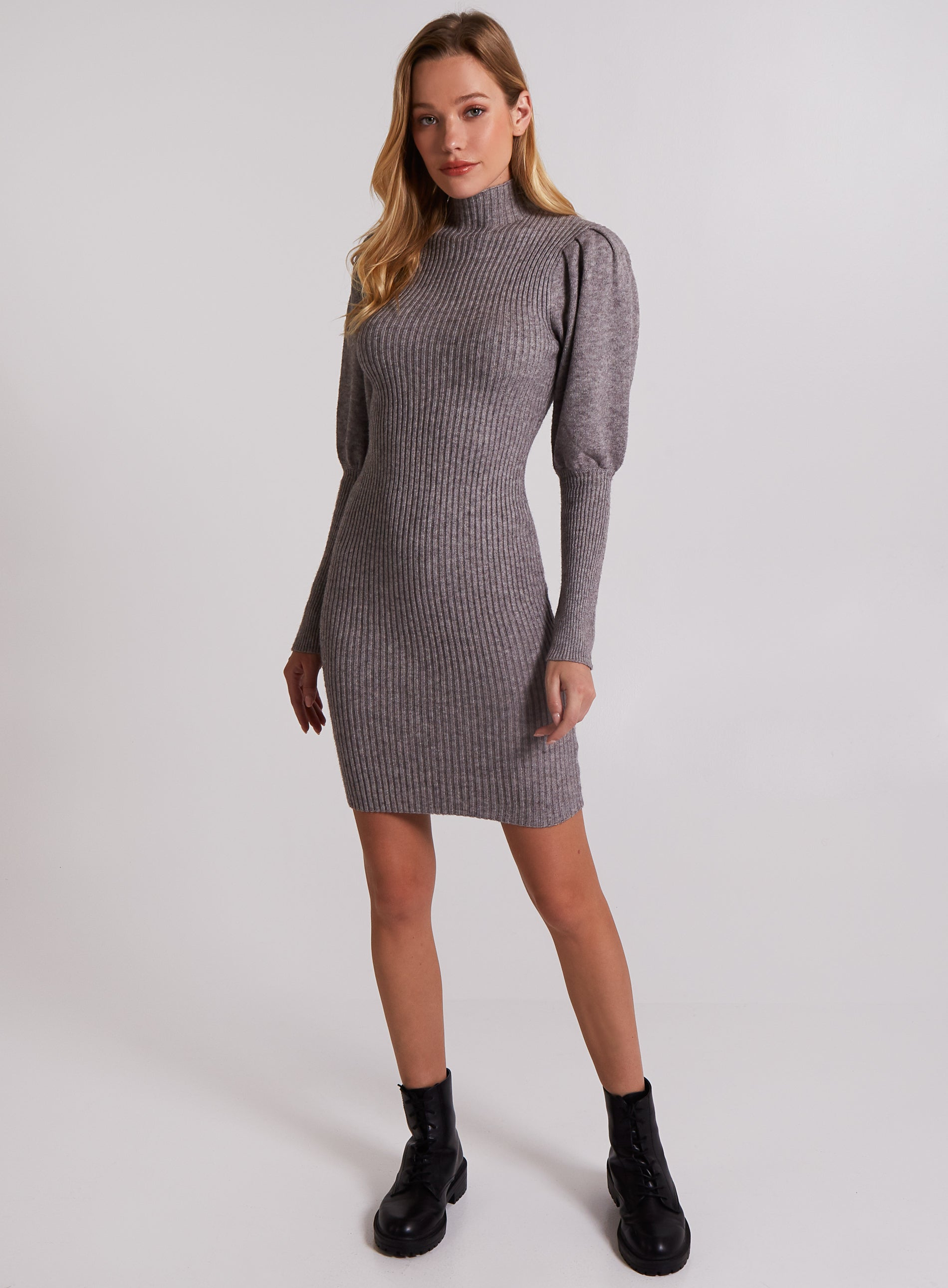 ASSERTIVE - Ribbed Bodycon Dress