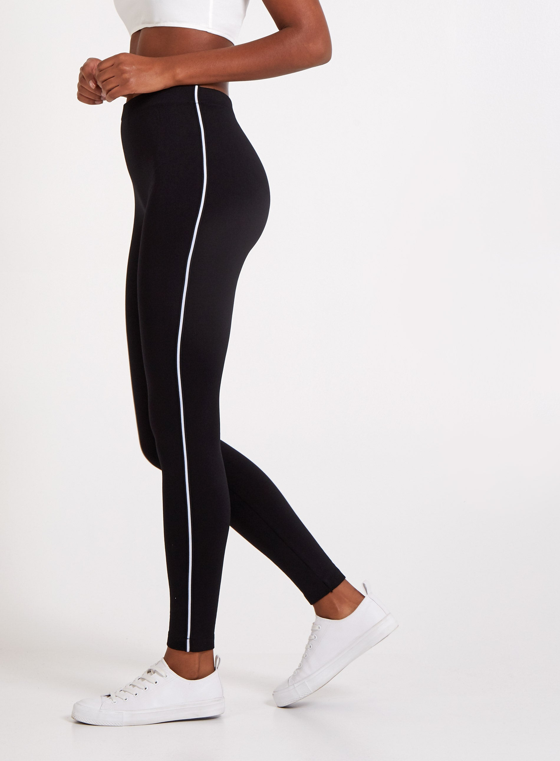 CHEERFUL - Go Faster Single Stripe Leggings