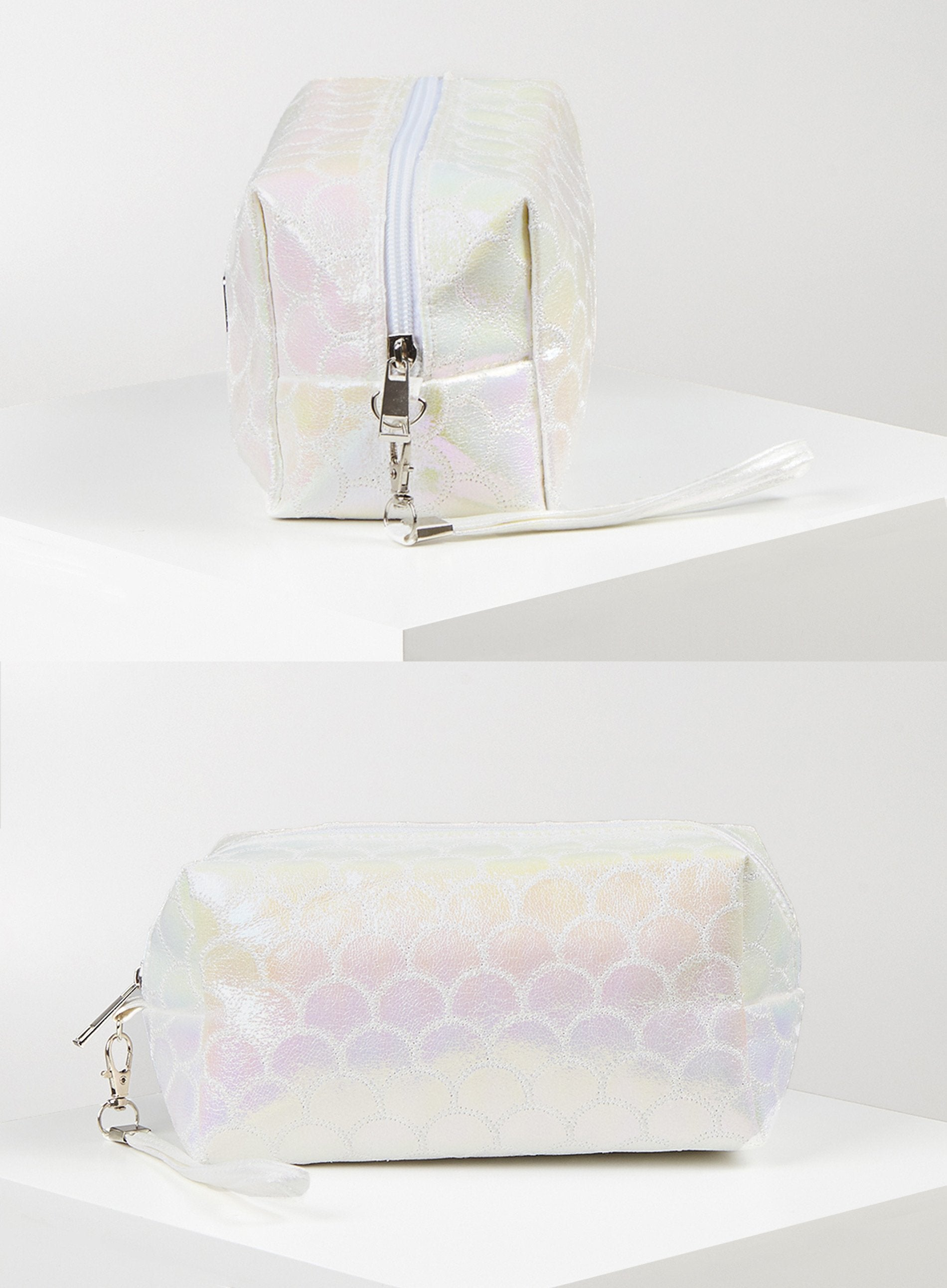 ACID - White Iridescent Make-Up Bag