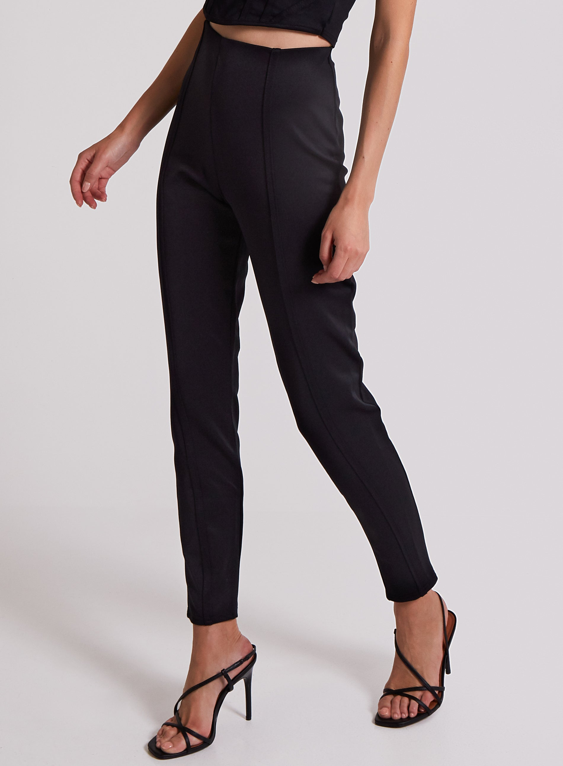 DEVOTE - Piping Detail High Waisted Bottoms