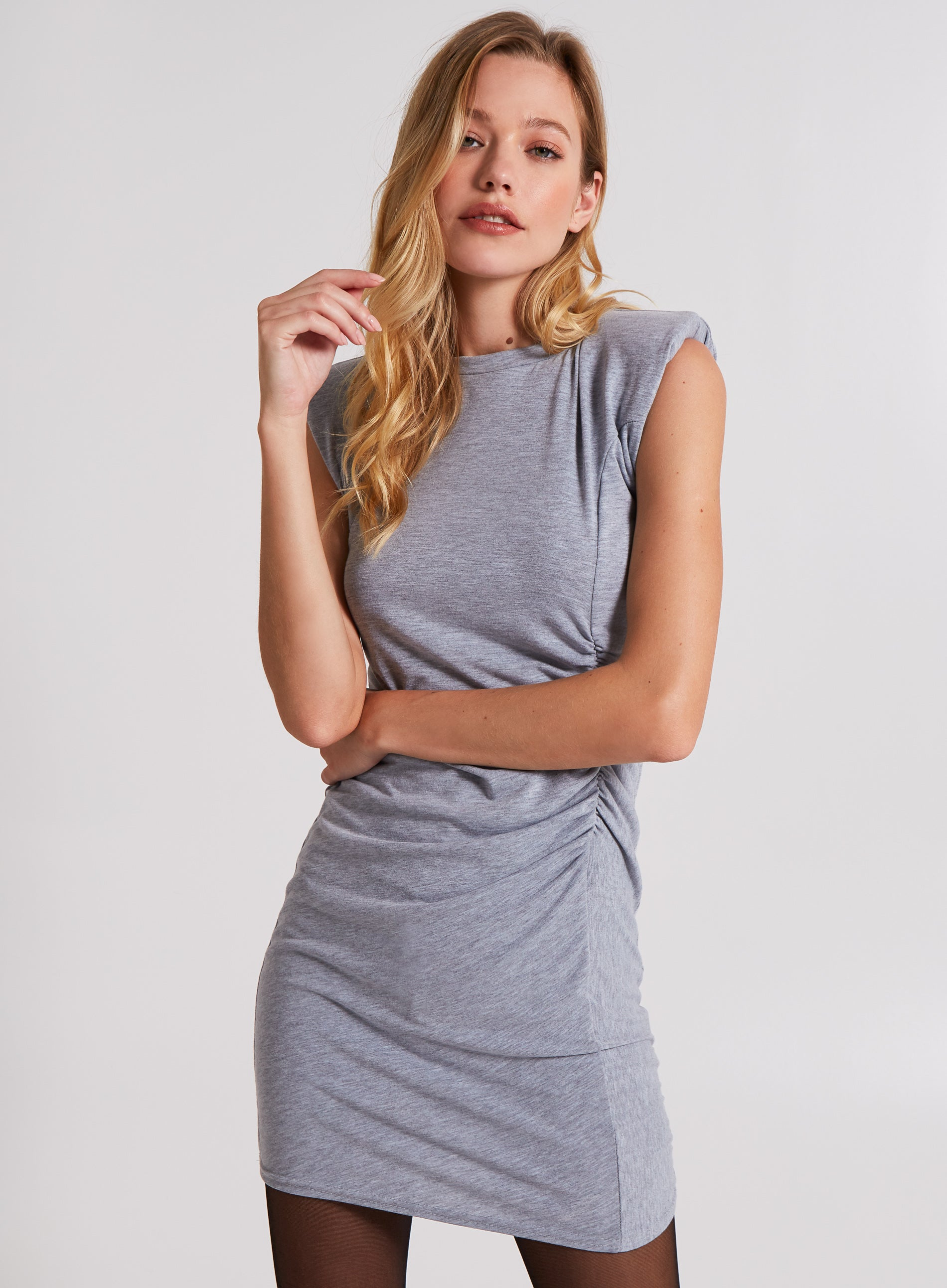 FIERCE - Rushed Side Ribbed Dress