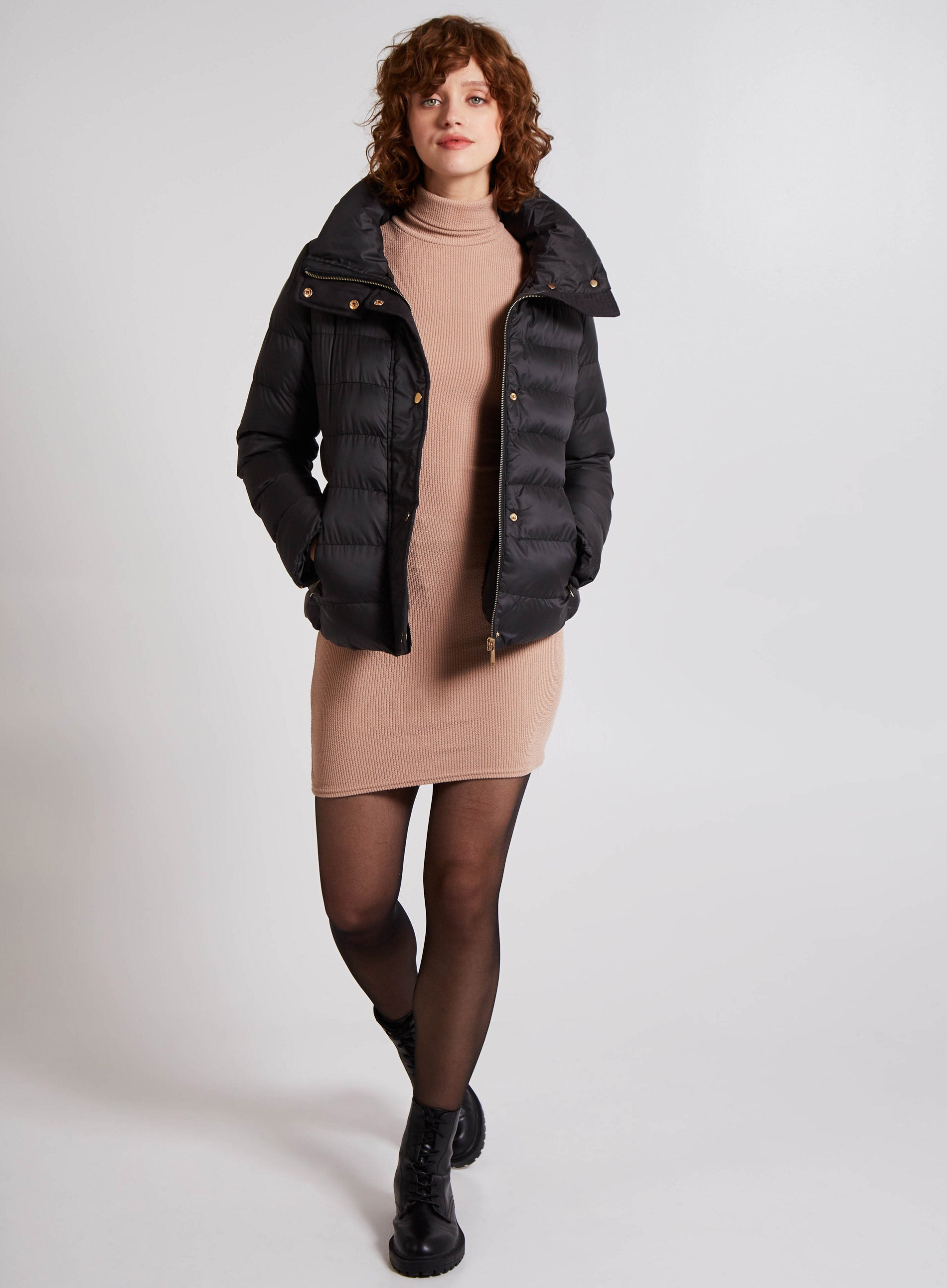 HEROIC - Faux Fur Collar Puffer Jacket