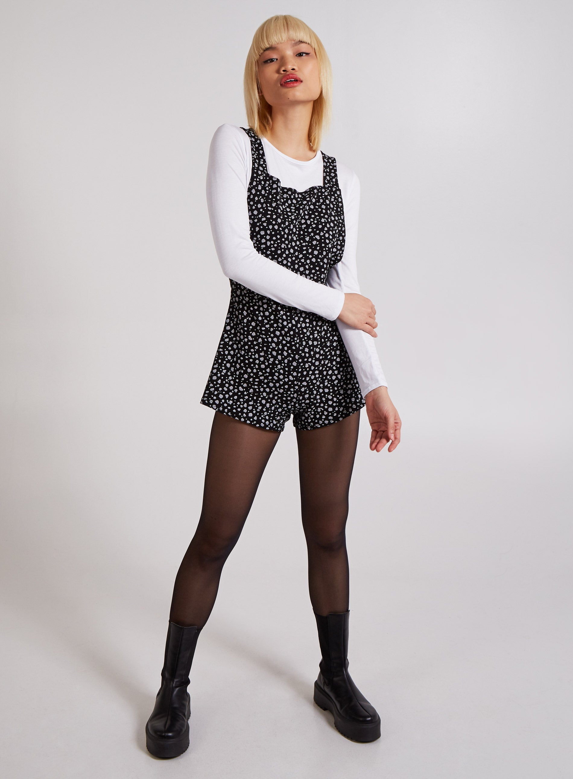 INNOCENT - 2in1 Monochrome Animal Playsuit