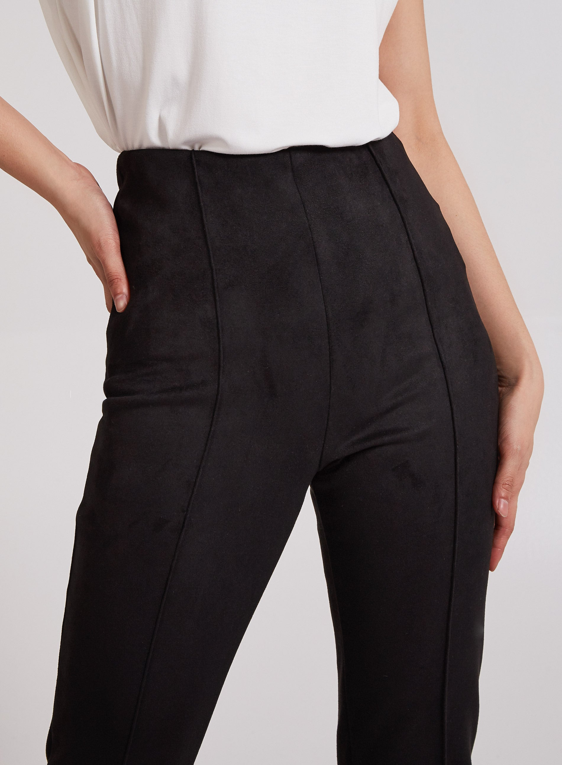 DISCIPLINED - Pintuck Suedette Trousers