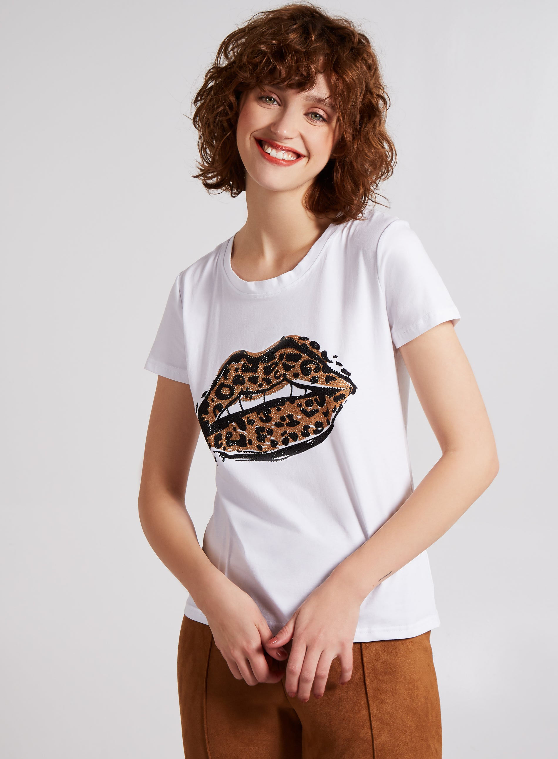 DYNAMIC - Leopard Lips T Shirt