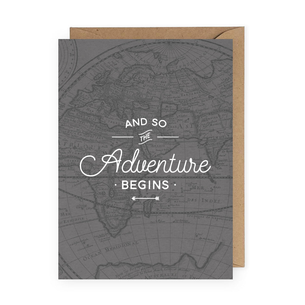 Adventure Begins Greeting Card