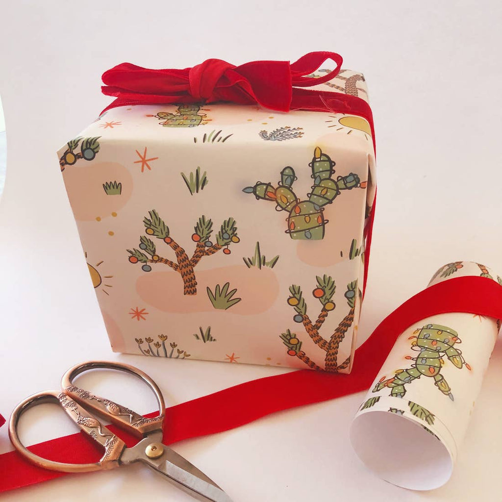 Christmas Cactus Wrapping Paper