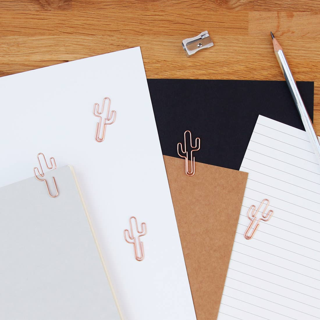 Cactus Paper Clips - Rose Gold