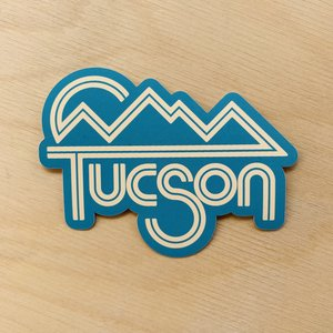 Teal/Yellow Tucson Sticker