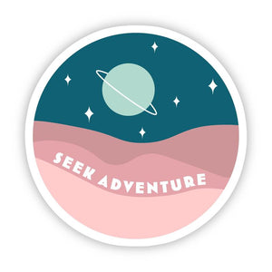 Seek Adventure Outer Space Sticker