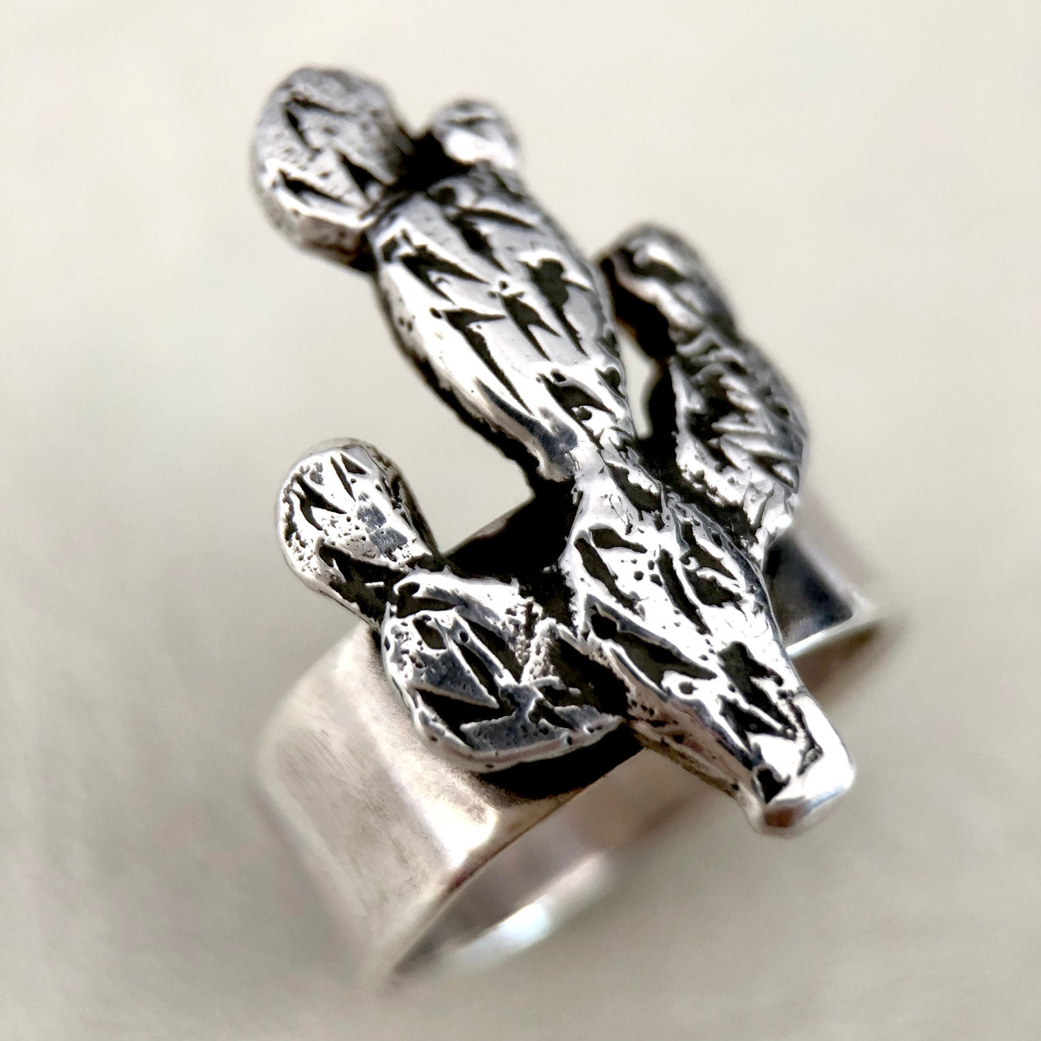 Prickly Pear Ring | Silver