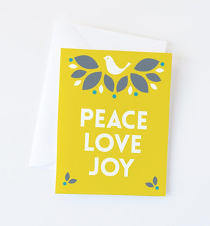 Holiday Dove Greeting Card