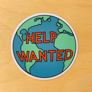 Help Wanted Sticker