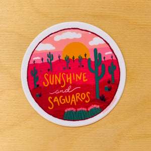 Sunshine and Saguaros Sticker