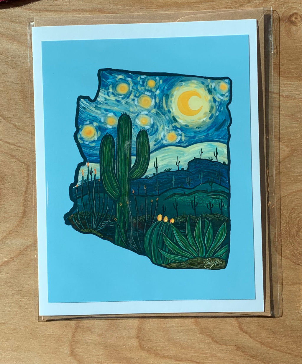 A Starry Night in AZ Greeting Card