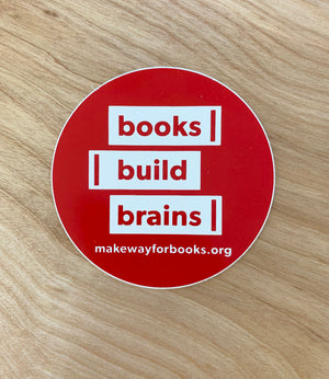 Make Way For Books Stickers