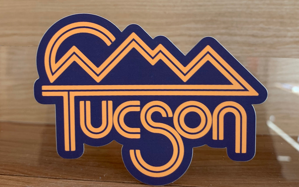 Navy/Orange Tucson Sticker