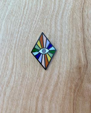 Rainbow Eye Pin