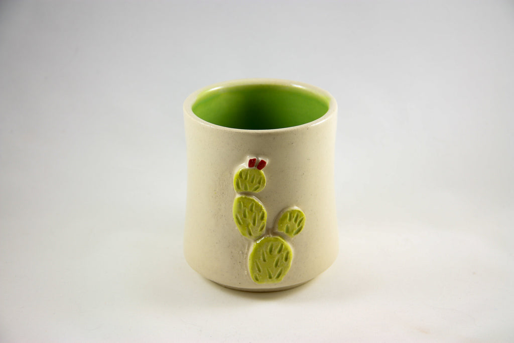 Prickly Pear White Sipping Cup