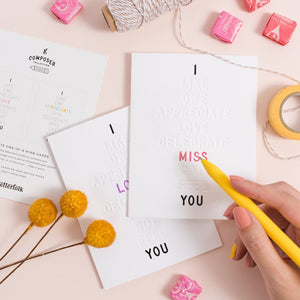 I ____ You Color-In Greeting Cards | 3-pack