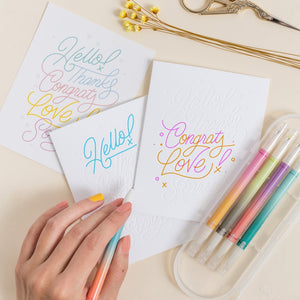 Lettering Color-In Greeting Cards | 3-pack