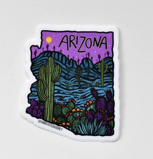 Purple Arizona Outline Sticker
