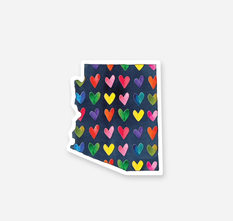 AZ Hearts Sticker