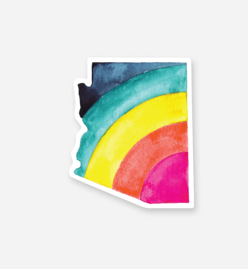 AZ Rainbow Sticker