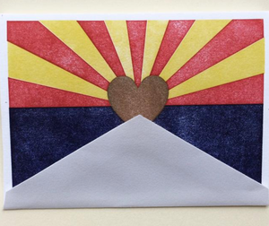 Arizona Flag Greeting Card