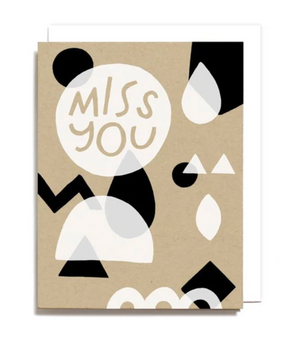 Miss You Geometric Card