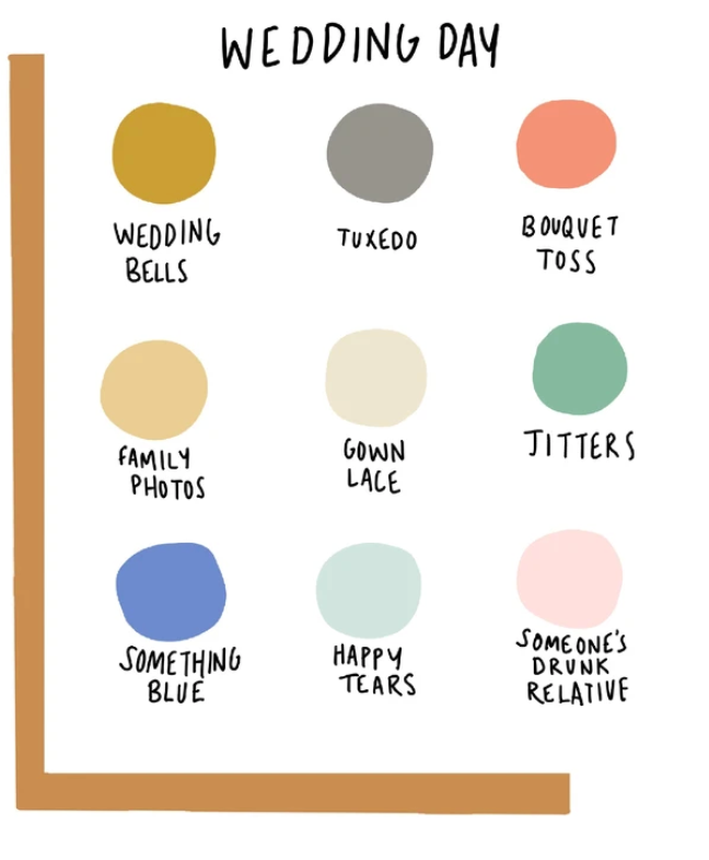 Wedding Day Color Dot Card
