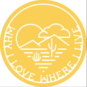 Why I Love Where I Live Sticker | Yellow