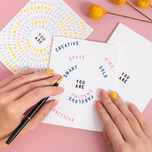 You Are Color-In Greeting Cards | 3-pack