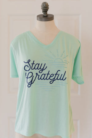 Stay Grateful Women's V-Neck