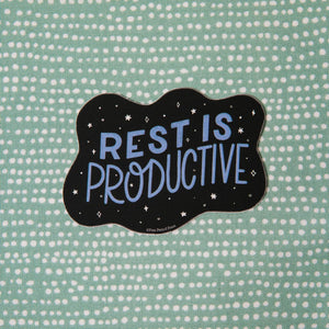 Rest is Productive Vinyl Sticker